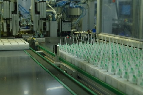 I.V. Catheter Production Line At USM Healthcare Factory